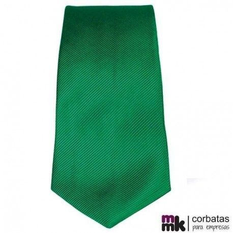 Corbata Verde Poliéster Eight